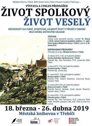 Výstava a přednášky Život spolkový, život veselý v Třebíči